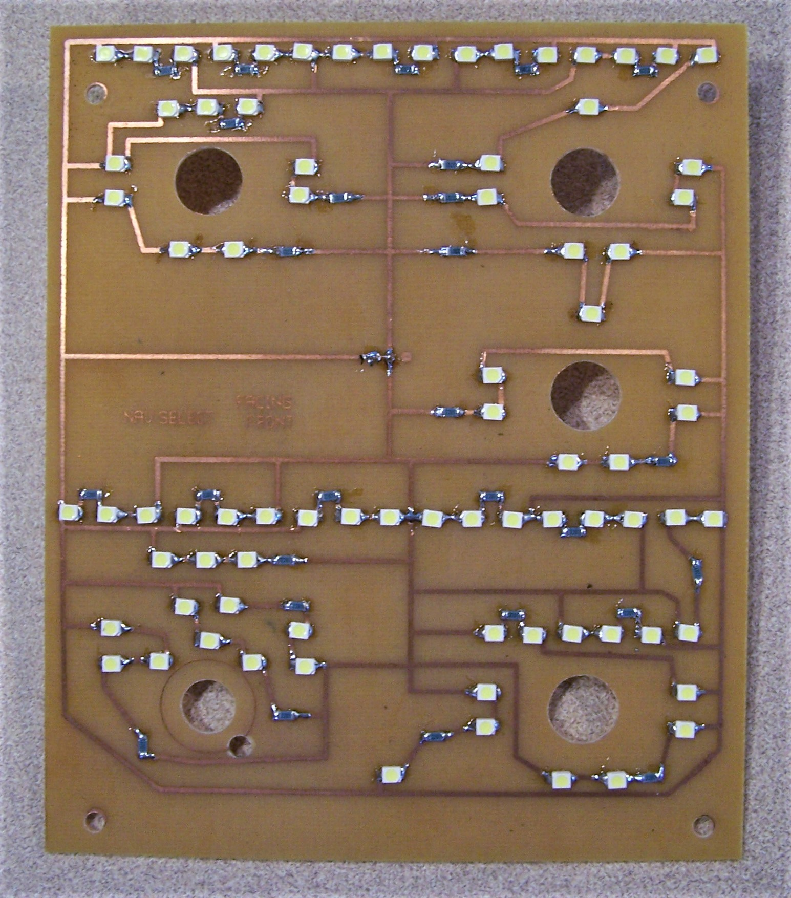 Boeing 737 Panel Dimensions Instrument Cluster Circuit Board It Is Bolted To The With Leds Resistors And Connectors Mounted Parts Are Not Perfectly Lined Up But Its What You Get When Hand Soldering Smd