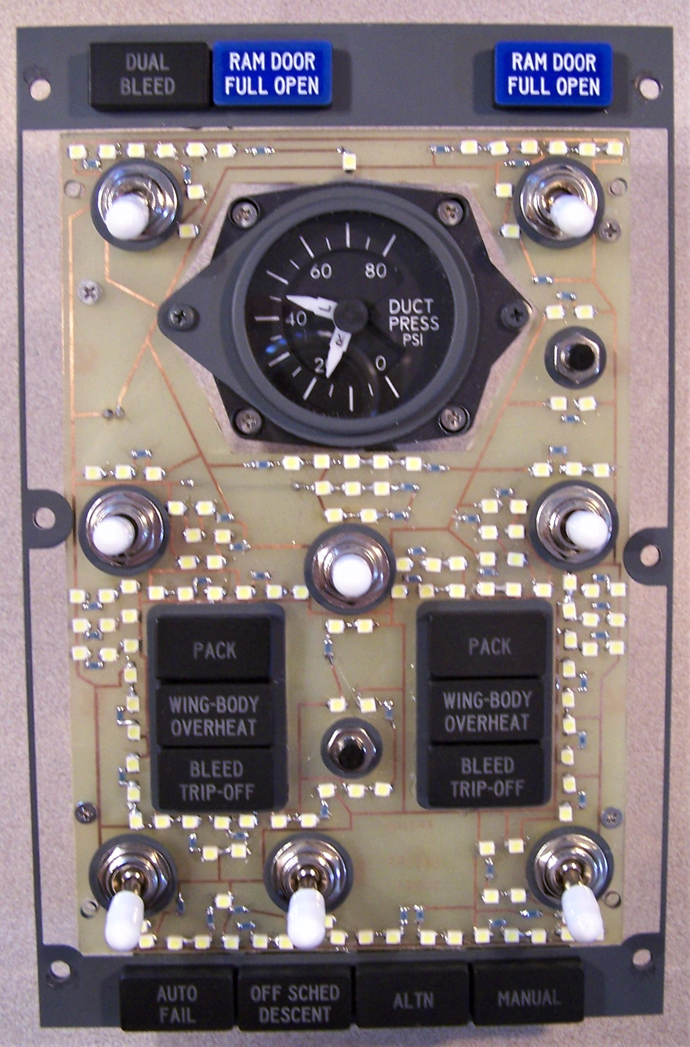 Boeing 737 Panel Dimensions Instrument Cluster Circuit Board It Is Bolted To The Mount And Switches Pneumatics Backplate
