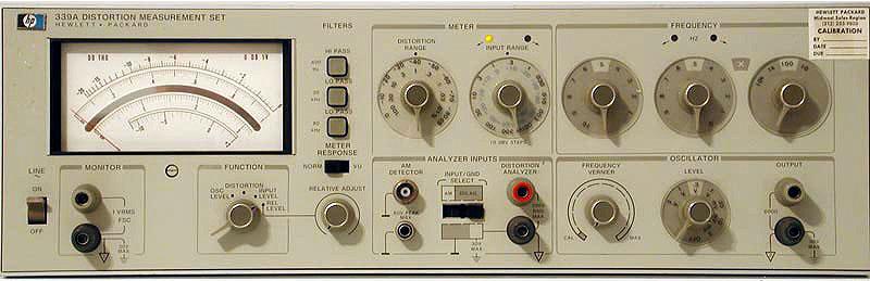 Hewlett-Packard 339A Distortion Analyzer