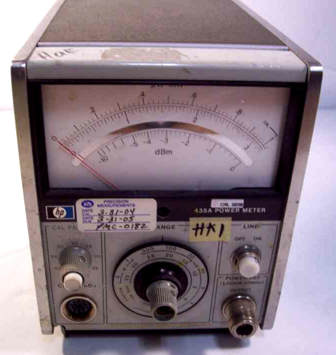 Analog Power Meter : Hewlett packard a power meter
