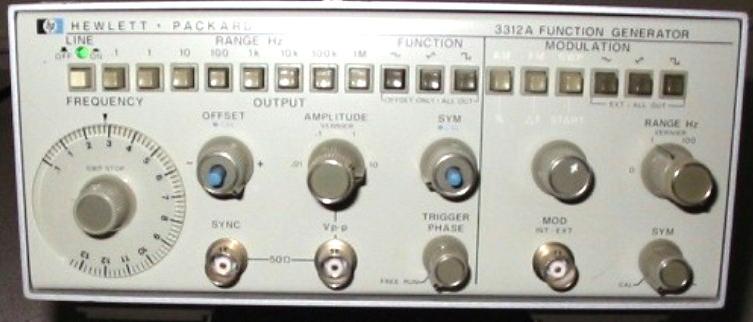 Hewlett Packard 3312a Function Generator
