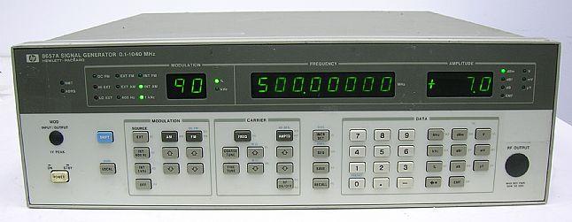 Hp Signal Generator : Hewlett packard a signal generator