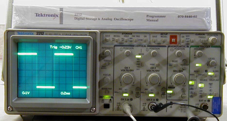 Tektronix Analog Oscilloscope : Tektronix mhz digital storage oscilloscope