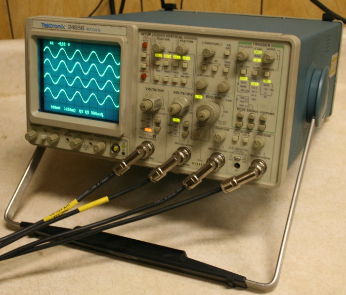 tektronix 2465b 400mhz 4 ch scope rh barrytech com Tektronix Digital Oscilloscope Tektronix Oscilloscope