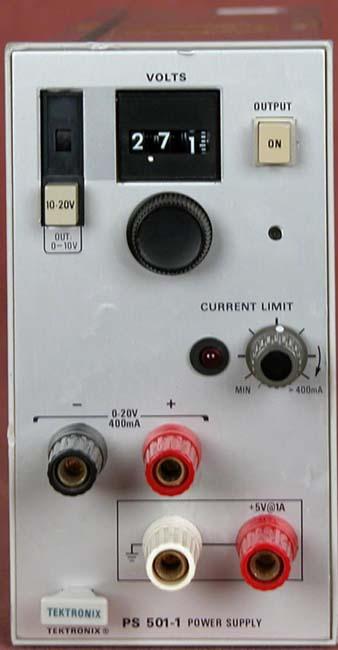Tektronix PS501-1 0-20V 400ma, 5V 1A Power Supply