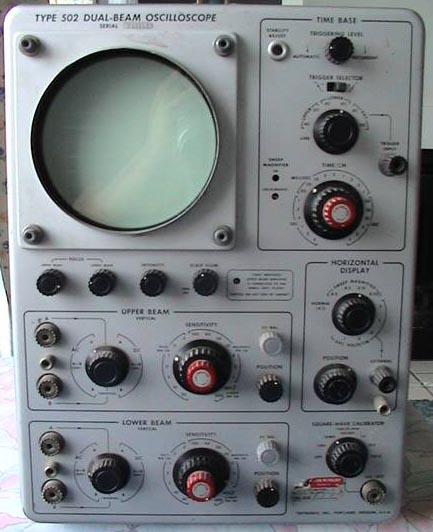 Vintage Tektronix Oscilloscopes : Tektronix older vintage oscilloscopes plug ins