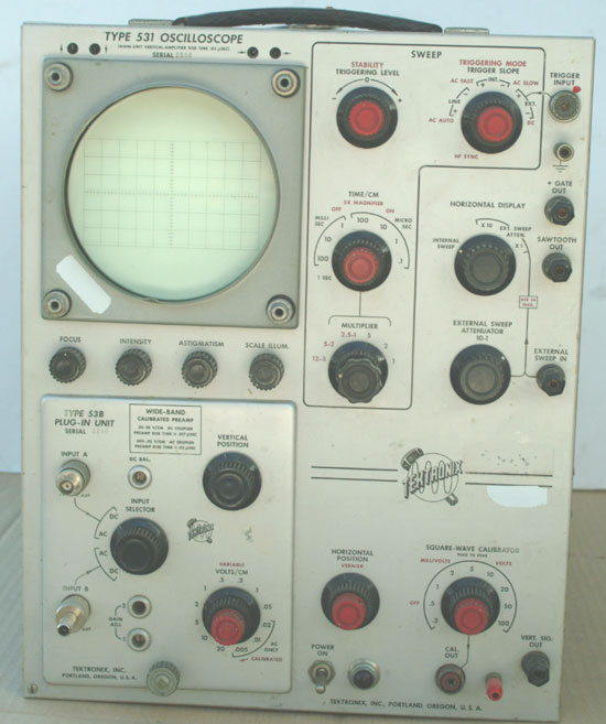 Vintage Tektronix Oscilloscopes : Tektronix oscilloscope