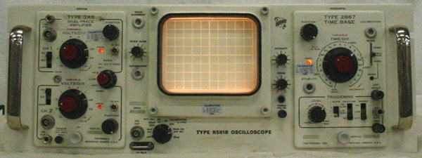 Vintage Tektronix Oscilloscopes : Tektronix r b oscilloscope